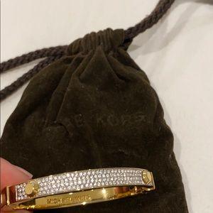 Michael Kors gold and rhinestones bangle